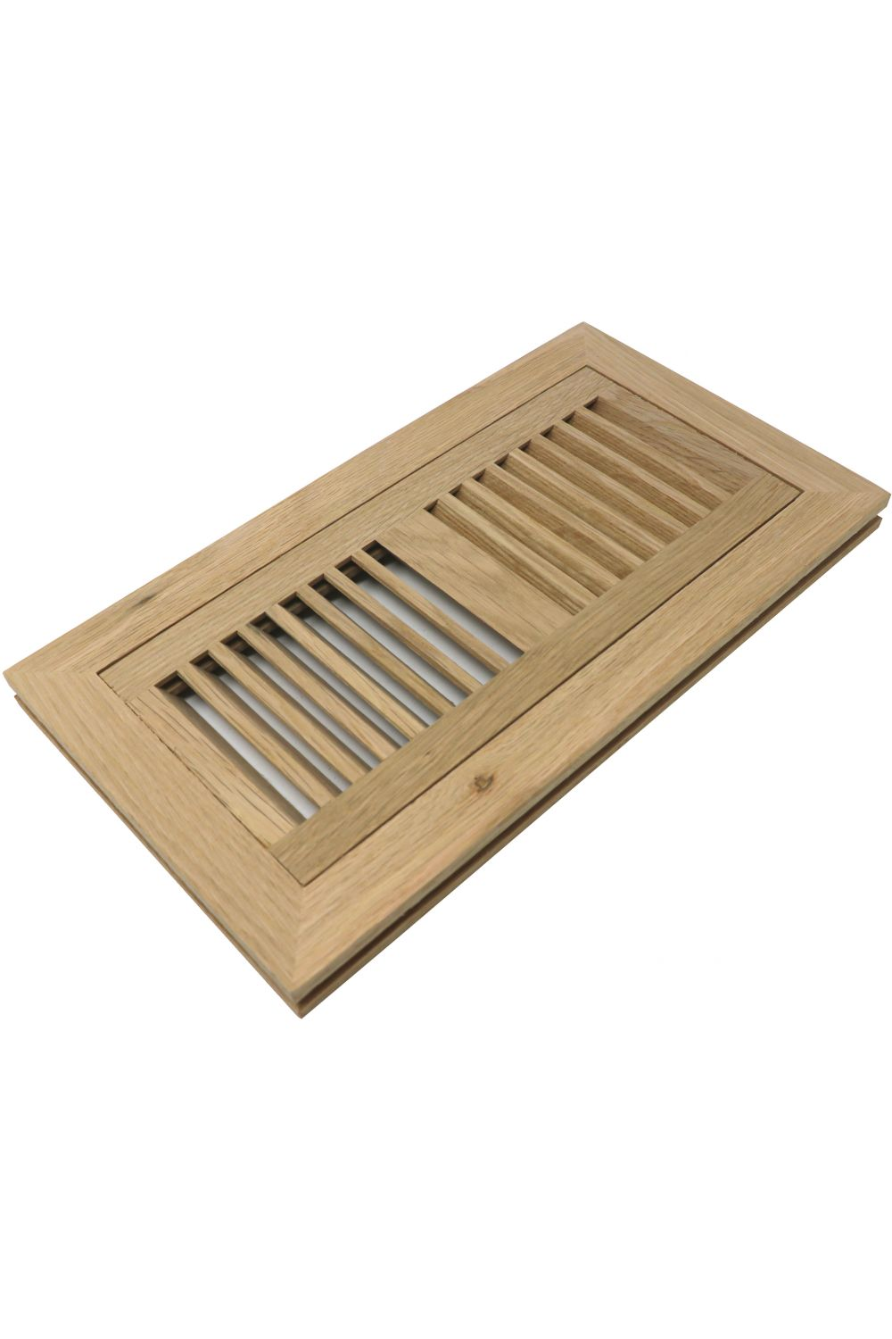 "White Oak 4"" x 10"" Wood Vent - Flush Mount w Damper"