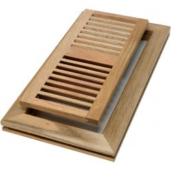 "Red Oak 4"" x 10"" Wood Vent - Flush Mount No Damper"